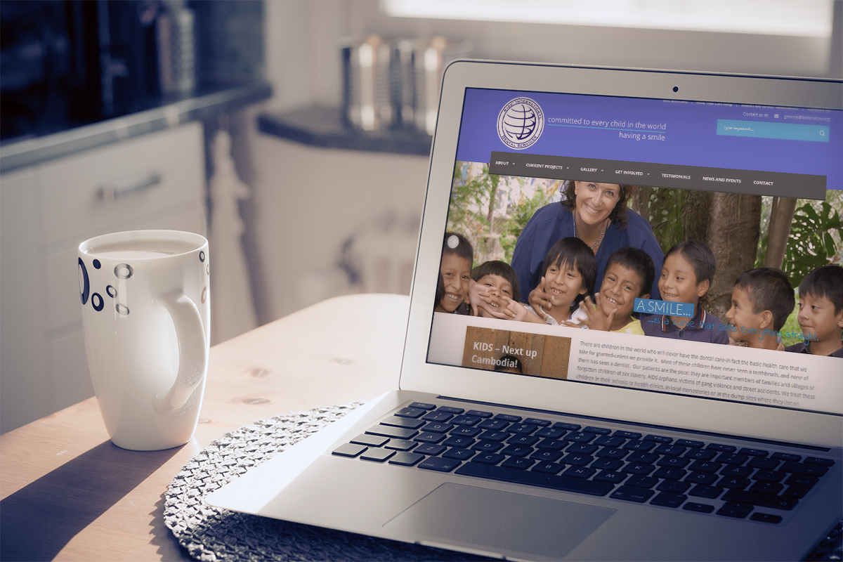 Kids international dental services website design for International decor services