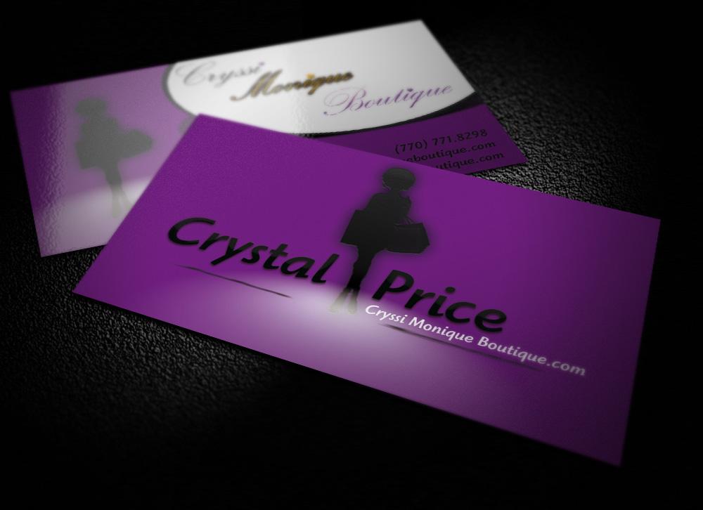 Cryssi Monique Boutique Business Card Design | Envisage Design ...